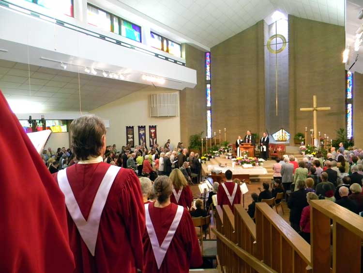 View of the Sanctuary from the Choir Loft