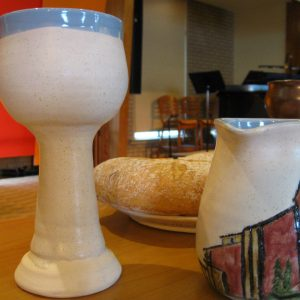 Communion elements in the chapel
