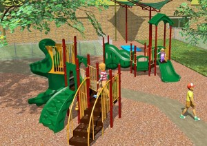 Architect's Rendering of the proposed new playground