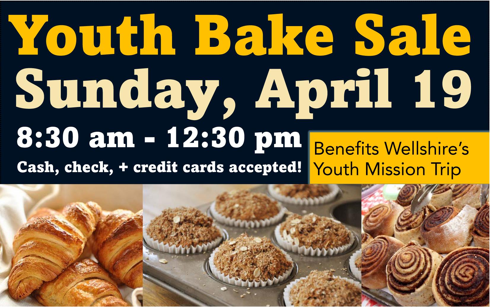 Youth Bake Sale April 19
