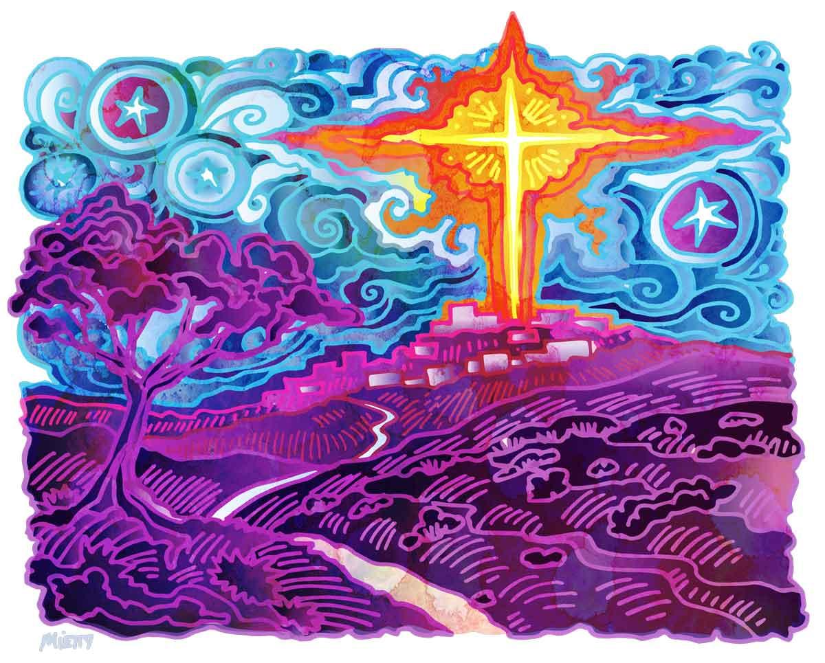 Star of Bethlehem illustration by Timothy Mietty