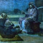 Sermon illustration art by Henry Ossawa Tanner - Christ and Nicodemus