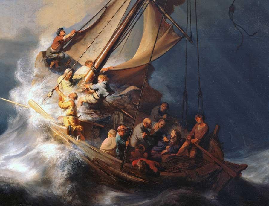 Sermon illustration - Christ in the storm
