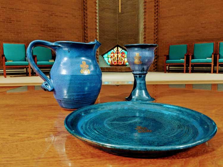 Communion table at Wellshire Church