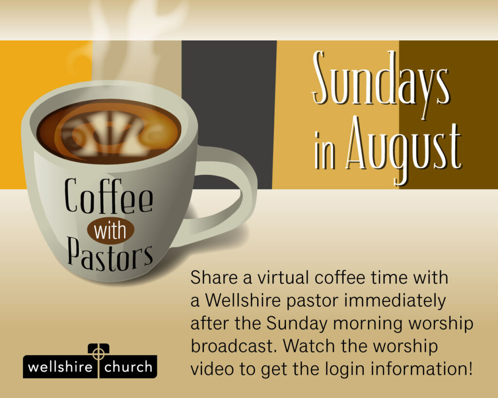 Coffee with Pastors on Sunday morning virtual gathering