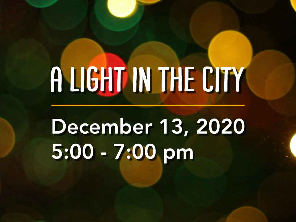 A light in the city: Christmas lights and living nativity
