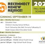 Sunday schedule, Fall 2021